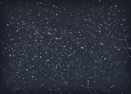 eps10 vector background: Falling snow at night. EPS10 vector background.