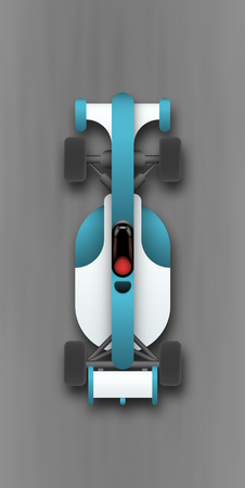 racecourse: Realistic race car with no ADs top view. EPS10 vector illustration.