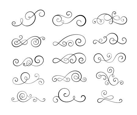 eps10: Vintage flourish swirls collection. EPS10 vector decorative elements.