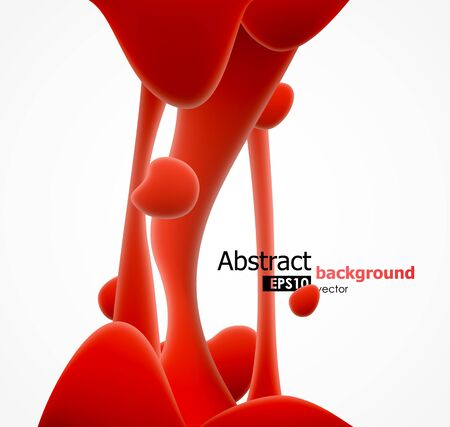 Abstract red viscous liquid splash background. EPS10 vector illustration. Illustration