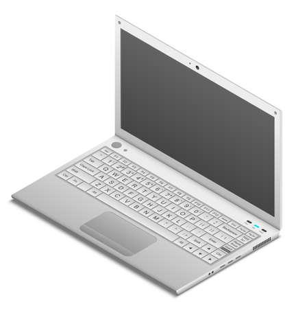 laptop isolated: Isometric detailed laptop isolated on white. EPS10 vector illustration.