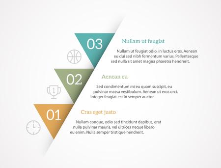 infografica: vettore sfondo semplice con copyspaces per il testo. Cool for illustra il concetto scala o una guida passo per passo. EPS10 vettore.