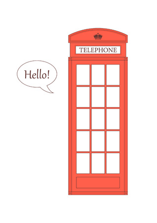 telephone booth: Vector illustration of a London red telephone booth. Vector image. Illustration