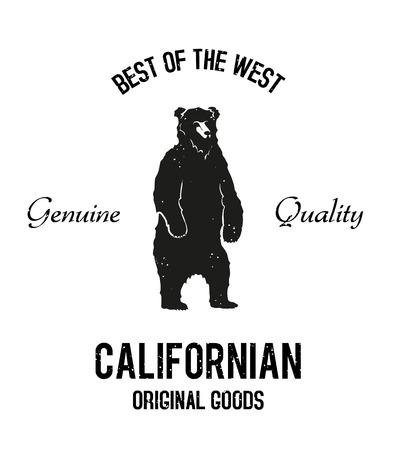 ours debout vintage noir et blanc