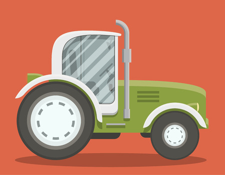 less: Vector illustration of a modern brand less tractor. Illustration
