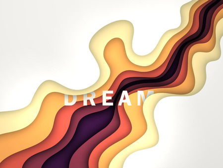 Dream Vector Background with wavy lines