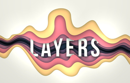 Layers Vector Background with wavy lines