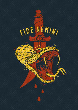 Venomous Snake Poster Çizim