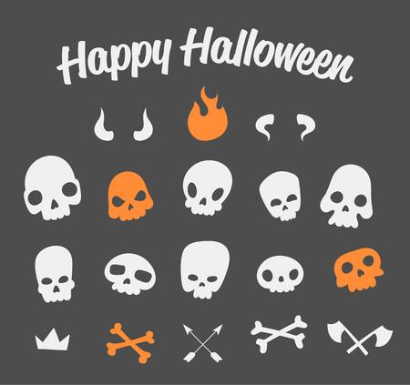 Funny Skulls Set