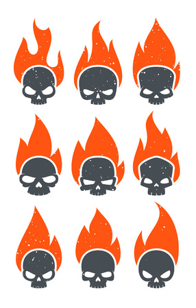 Burning Skulls Icons