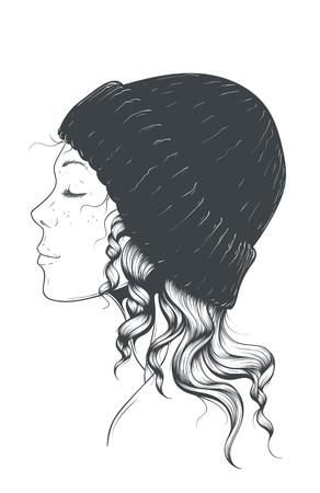 Girl in a bonnet Hat