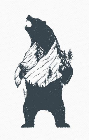 Standing Bear Illustration