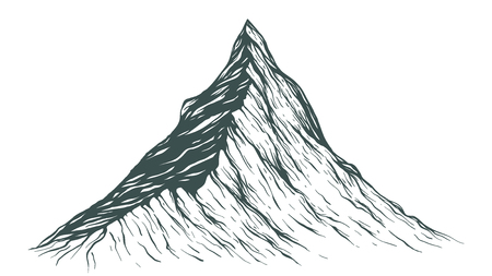 Hand Drawn Mountain