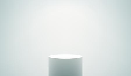 Empty White Podium Vectores