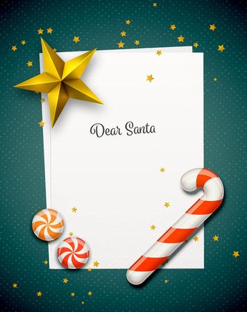 Santa Claus Letter Vectores