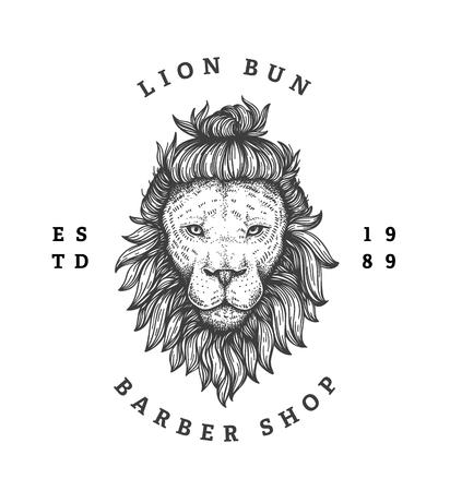 Barber Shop Logo isolated on plain background.