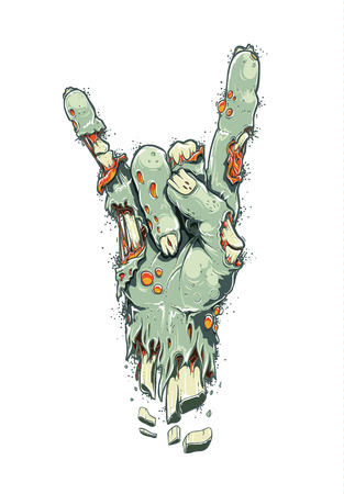 Zombie Hand On White