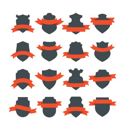 Shields With Ribbons Foto de archivo