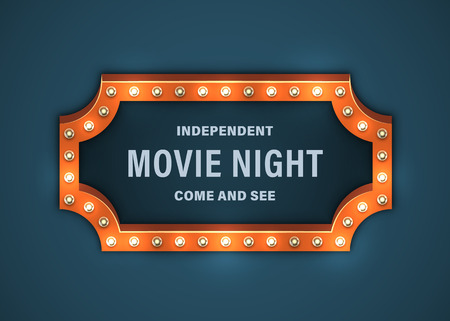 Movie Night Sign Banco de Imagens