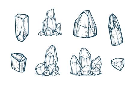 Crystals Illustration set Vectores