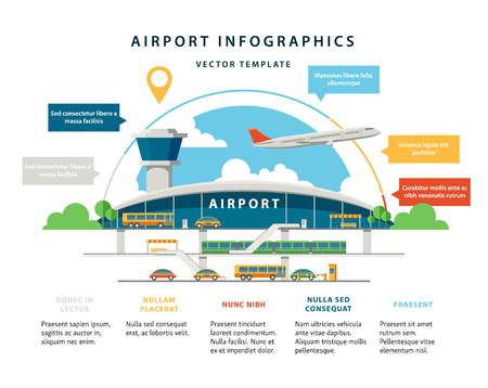 Flat Vector Airport Illustration