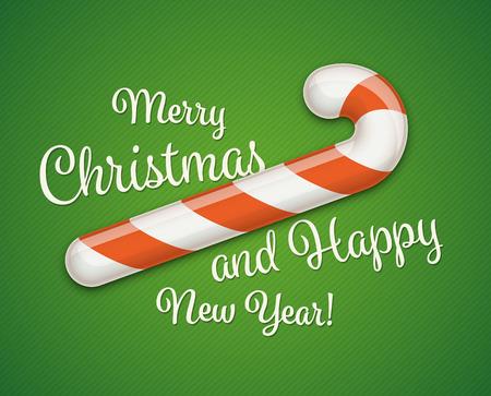 Merry Christmas Postcard Vectores