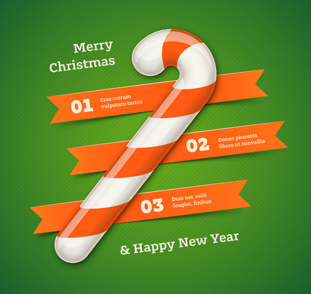 Christmas and New Year Infographic Vectores