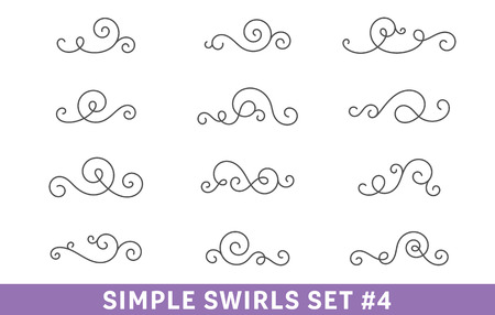Calligraphic Swirls Collection set