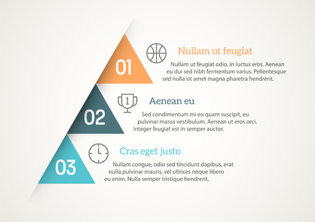 Numbered List Template with triangular shapes Vectores