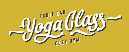 Yoga Class Lettering Vectores