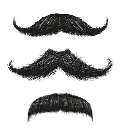 Three Mustache Set Vectores