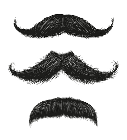 Three Mustache Set Illustration