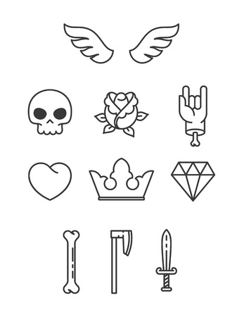 Simple Tattoo Elements