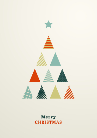 Flat Fir Tree illustration on light background.