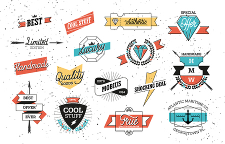 Hipster Badges Set Ilustrace