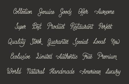 Simple Calligraphic Words