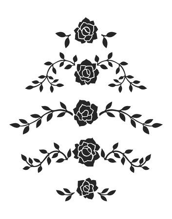 Abstract Roses Decoration Foto de archivo
