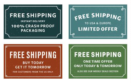Free Shipping Stickers Foto de archivo