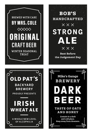 Alcohol Bottle Labels