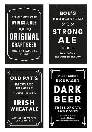 Alcohol Bottle Labels