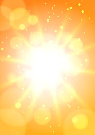 Hot Sun Background Vector illustration.