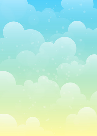 Vertically illustrated of a Peaceful Sky Background design