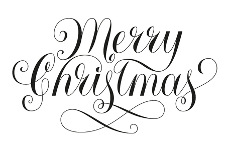 Merry Christmas Lettering Illustration