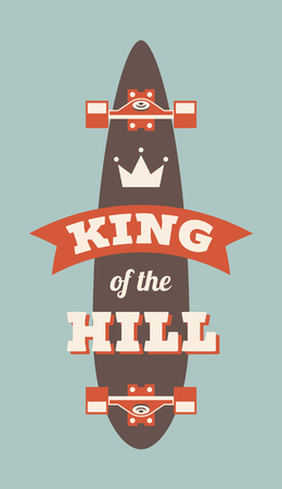 King Of The Hill isolated on colored presentation. Vectores