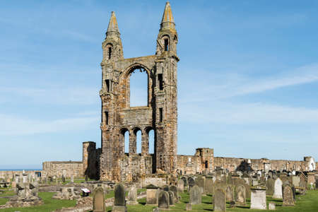 fife: St Andrews cathedral Fife Scotland Stock Photo