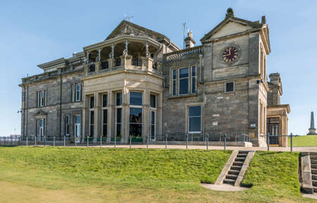 fife: The Royal and Ancient clubhouse, St Andrews, Fife, Scotland