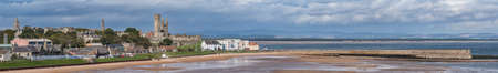 A panoramic view of St Andrews from the coastal path