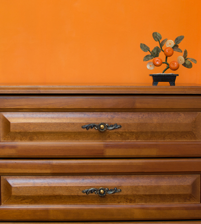 commodious: Wardrobe and small decor orange-tree Stock Photo