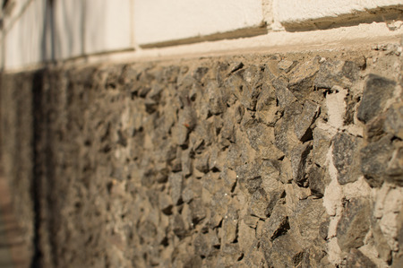 decorative wall: Rough stone decorative wall. Old building