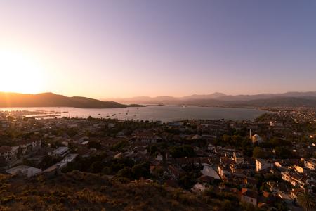 Fethiye city landscape. Turkey arhitecture and nature Stock Photo